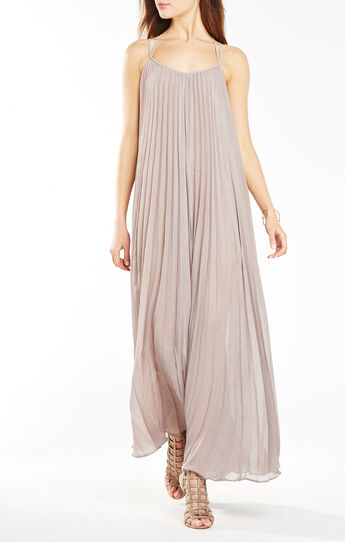 Isadona Pleated Maxi Dress