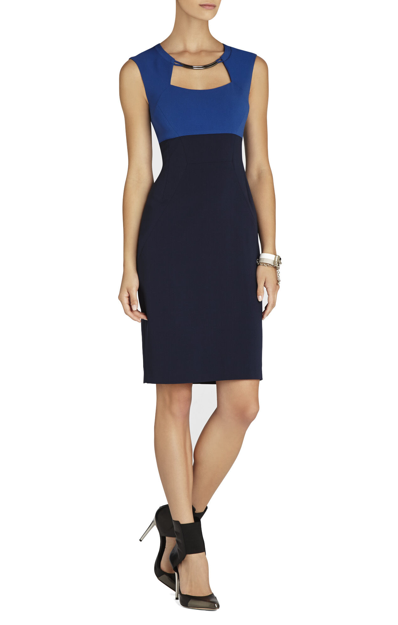 Clara Color-Blocked Sheath Dress