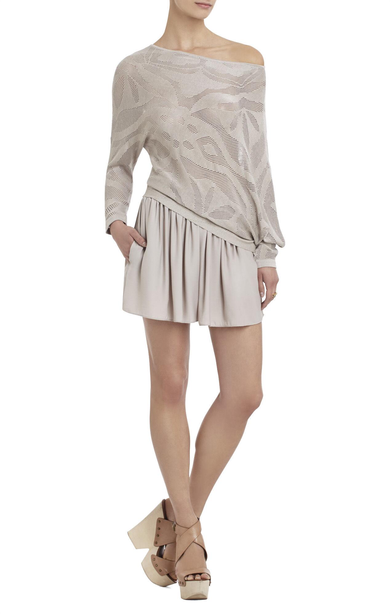 Karlie Asymmetrical Pointelle Pullover