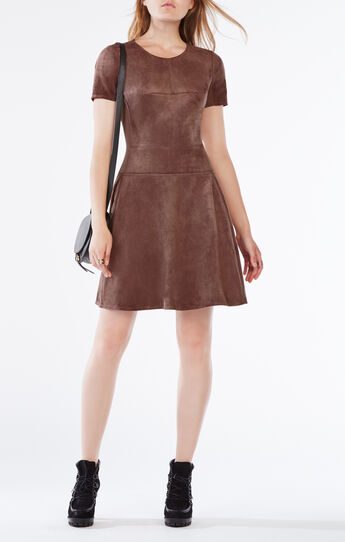 Darra Suede A-Line Dress