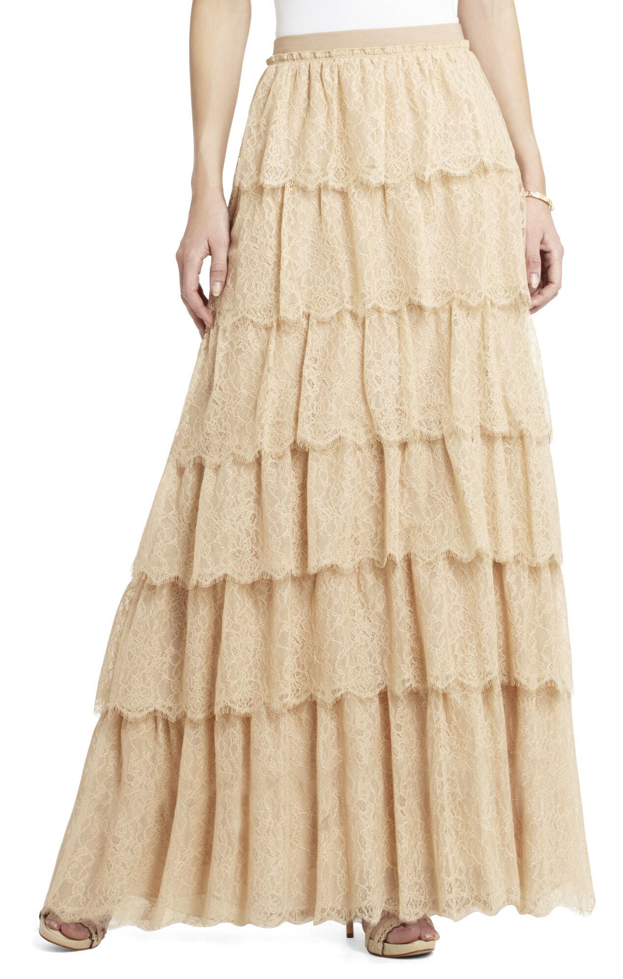 Edita Tiered Lace Skirt
