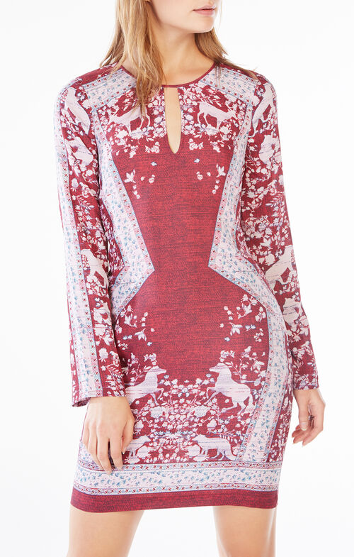 Freya Scarf Print Dress