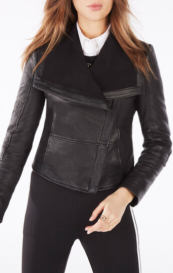 Annabel Leather Moto Jacket