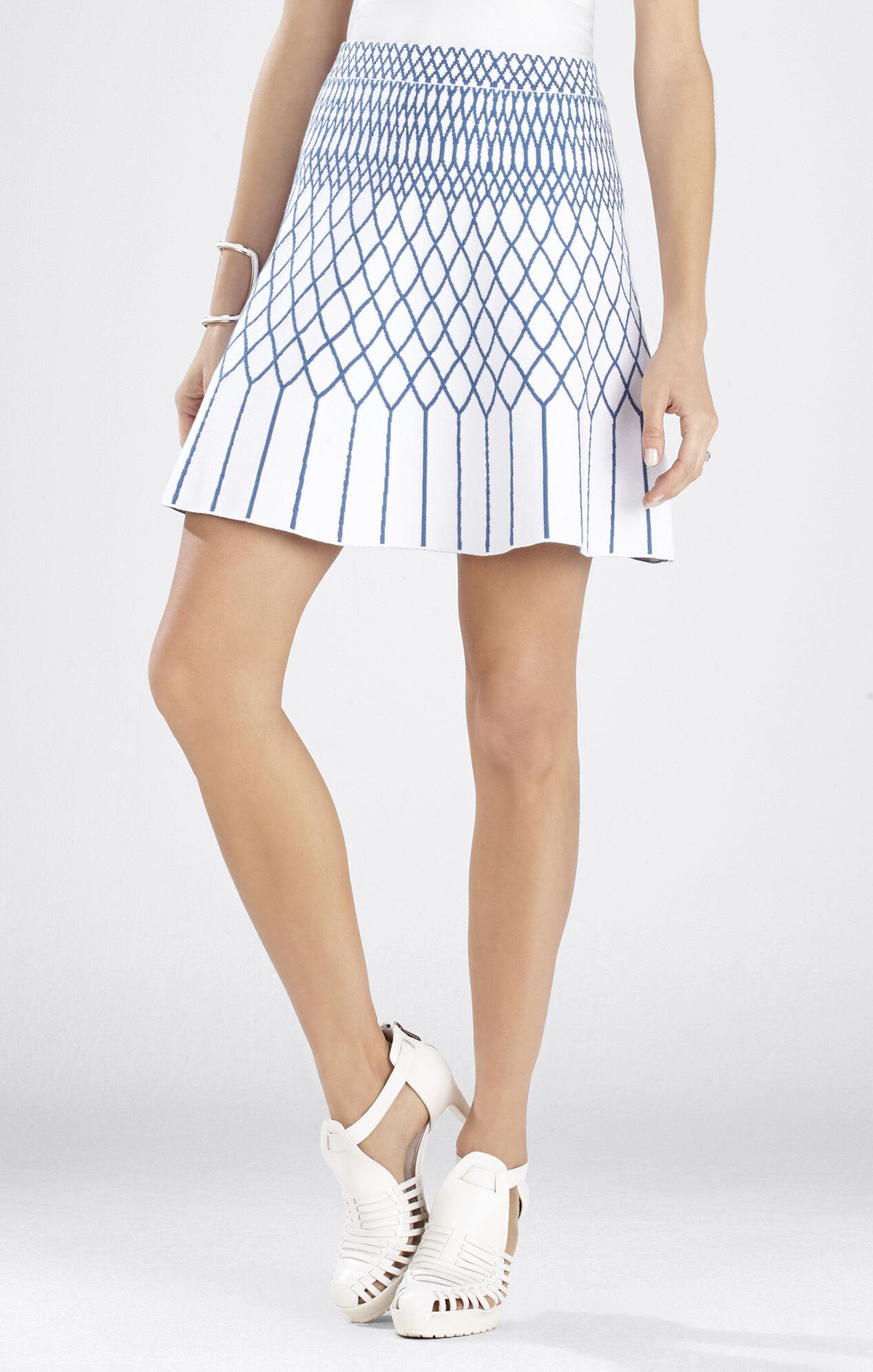 Marleia Jacquard A-Line Skirt