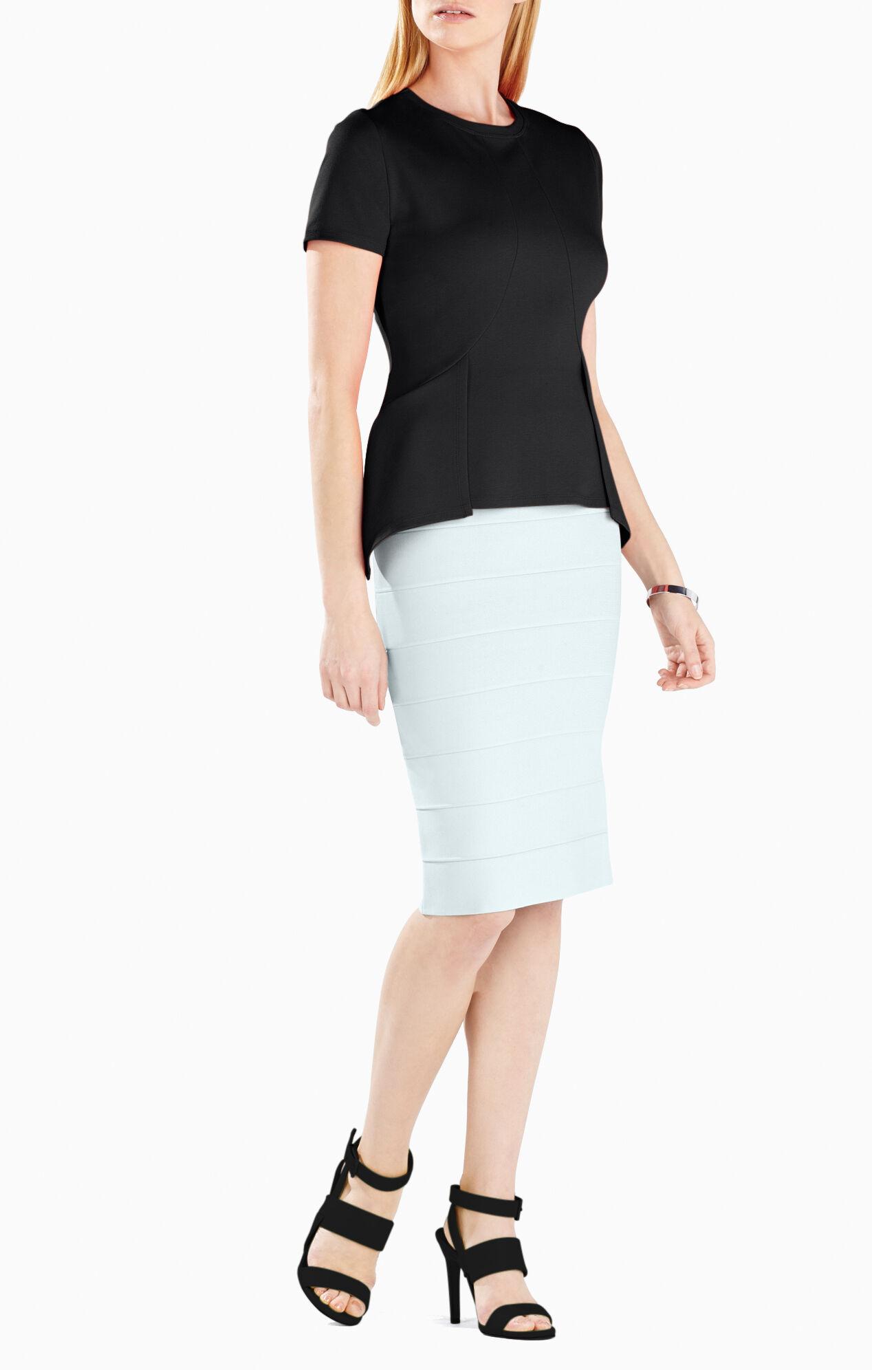 Scarlet Short-Sleeve Peplum Top