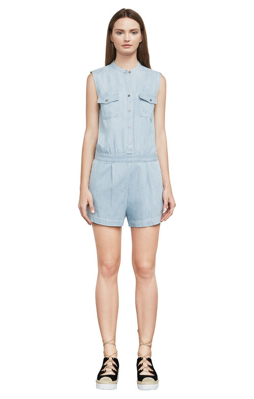 Laden Denim Romper
