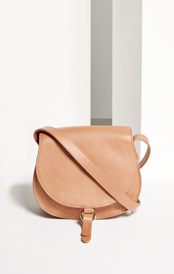Lory Mini Leather Saddle Cross-Body