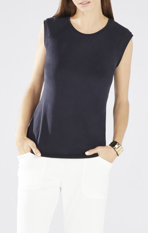 Cristi Cowl-Back Top