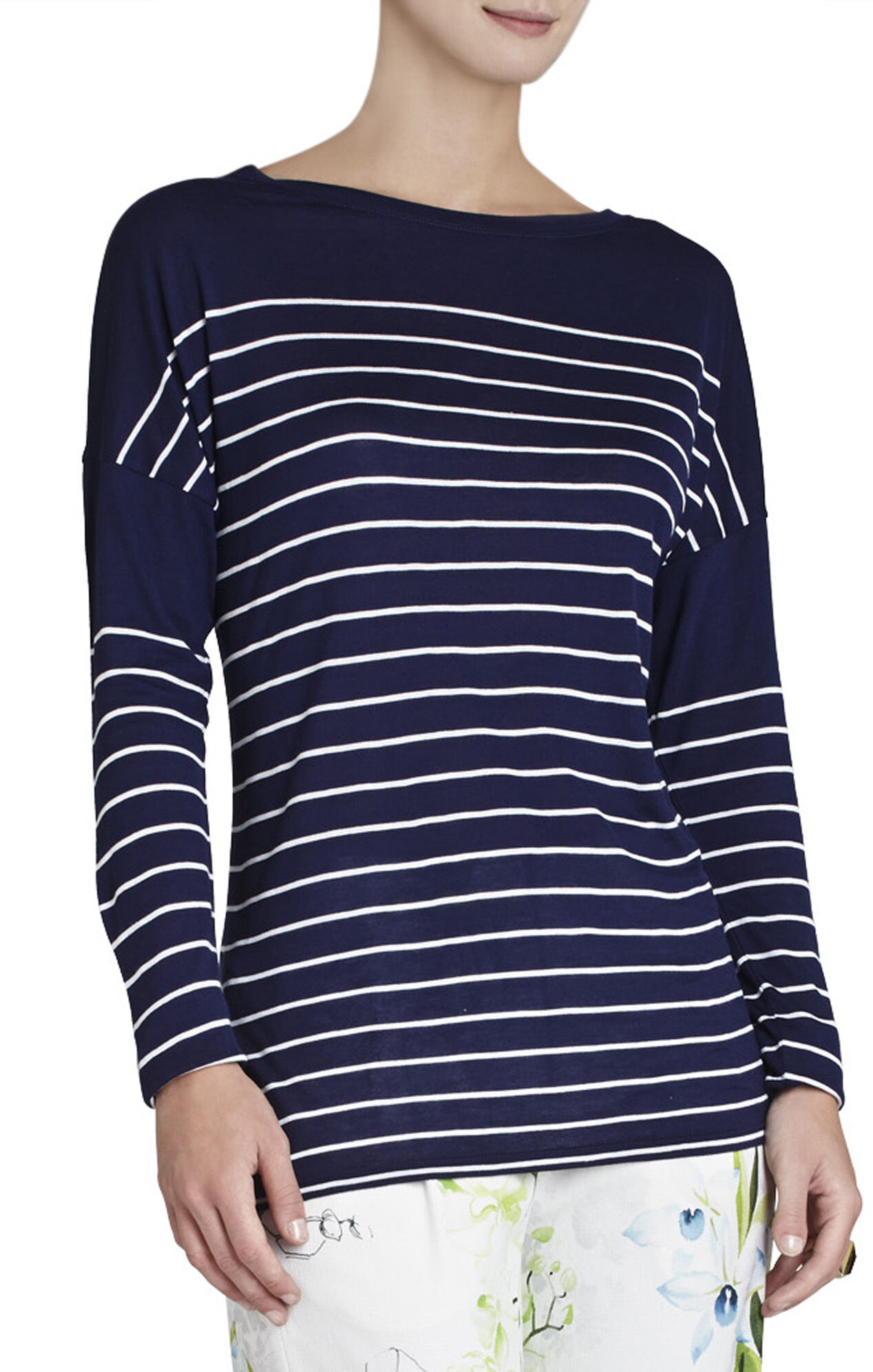 Melo Long-Sleeve Striped Top