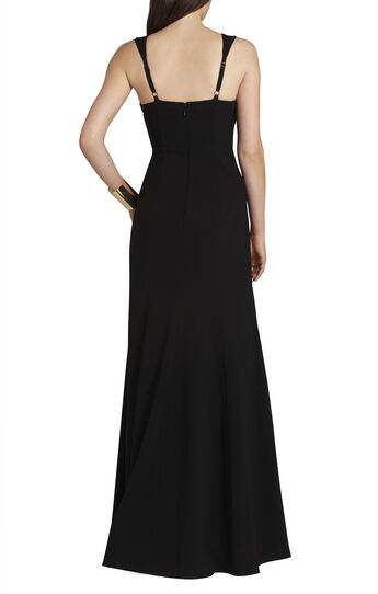 Crisscross-Strapping Bodice Gown