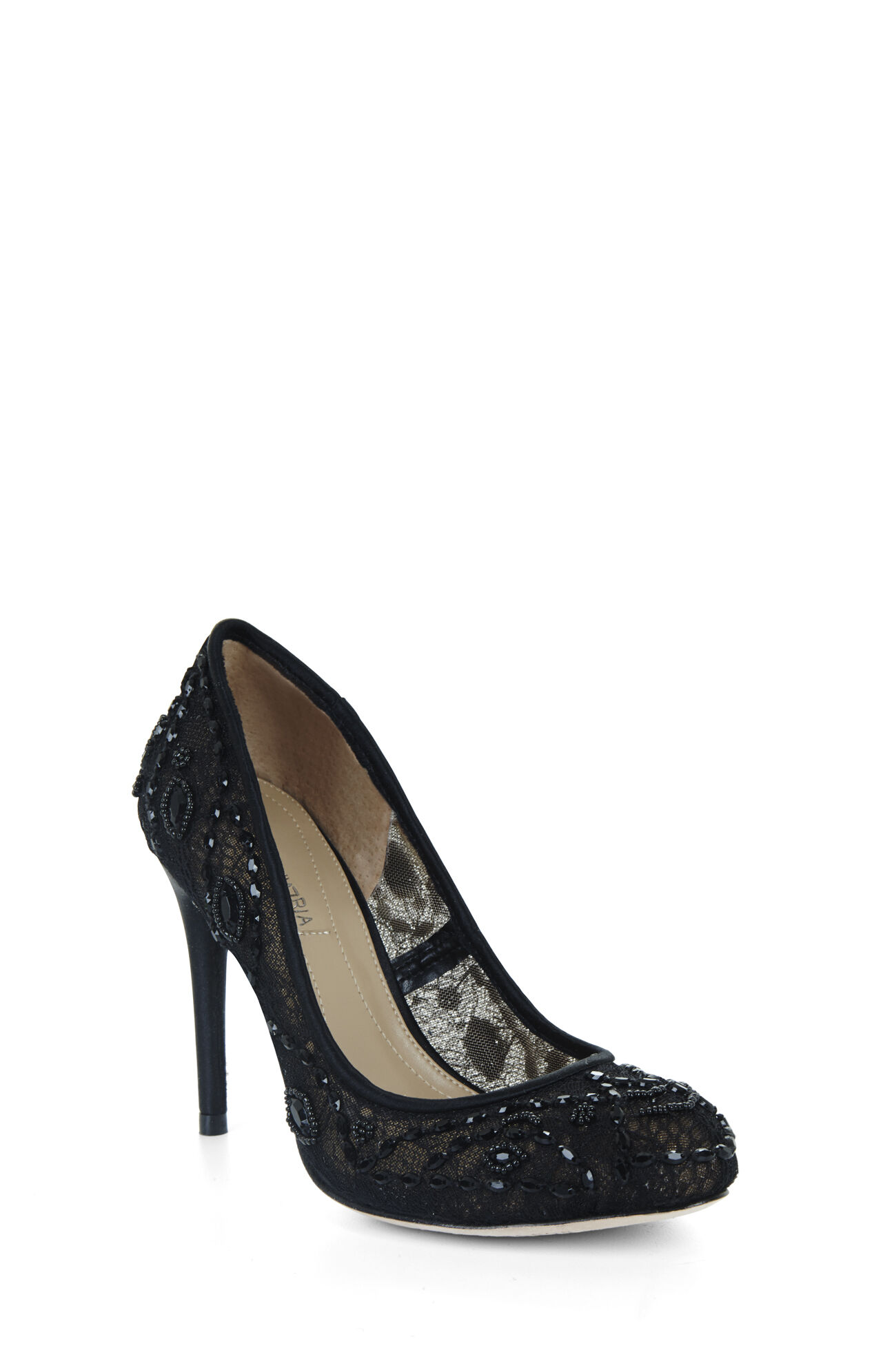 Bettie Round-Toe Lace Dress Pump