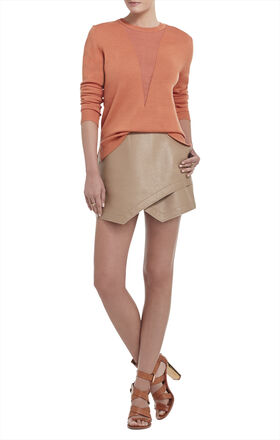 Joice Sheer V-Neck Pullover