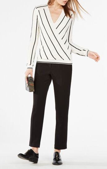 Laurey Draped Striped Top