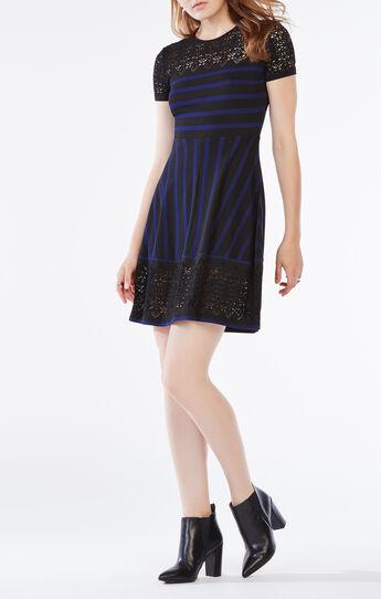 Bryonna Stripe Lace Dress
