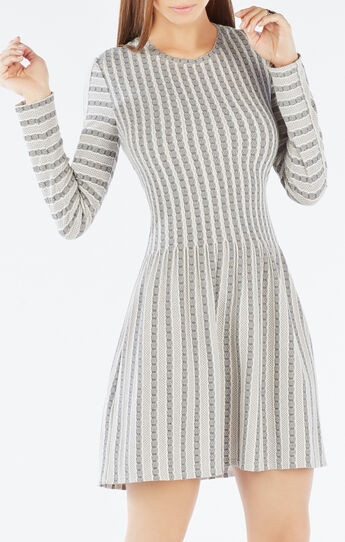 Marlin Striped Jacquard Dress