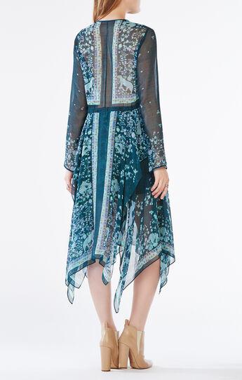 Briget Scarf Print Dress