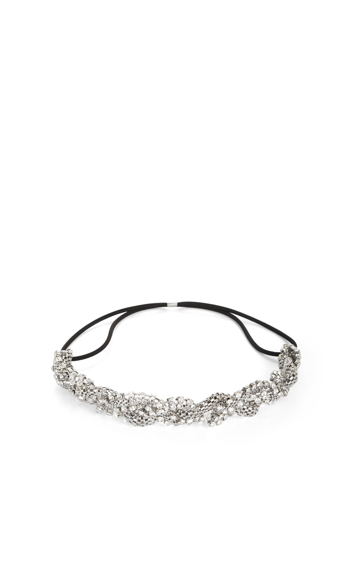 Braided-Chain Elastic Headband