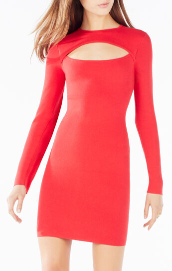 Fyona Long Sleeve Cutout Dress