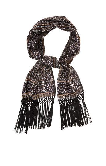 Aztec Woven Oblong Silk Scarf