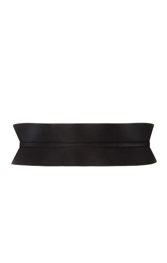 Faux-Leather Contour-Waist Belt