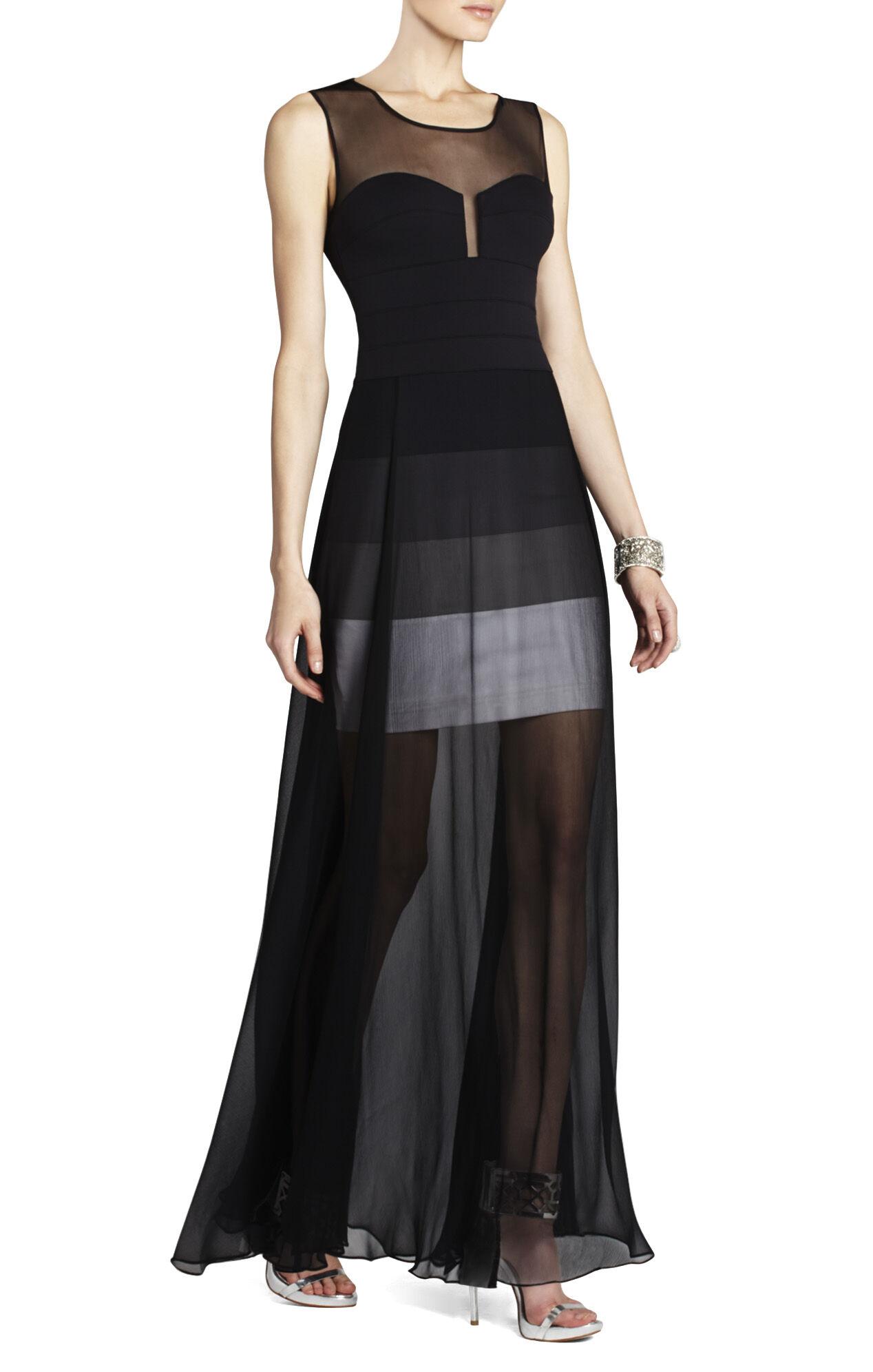 Bcbg sheer maxi tank dress