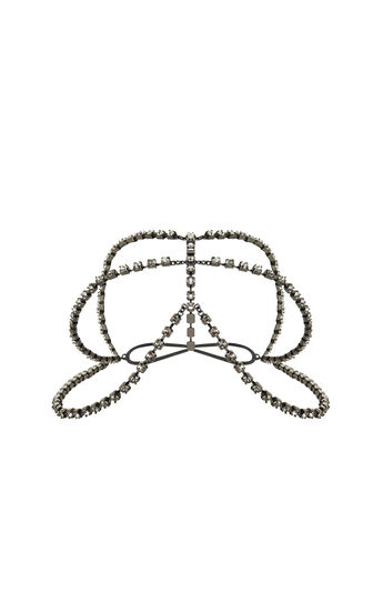 Tri-Chain Rhinestone Headpiece