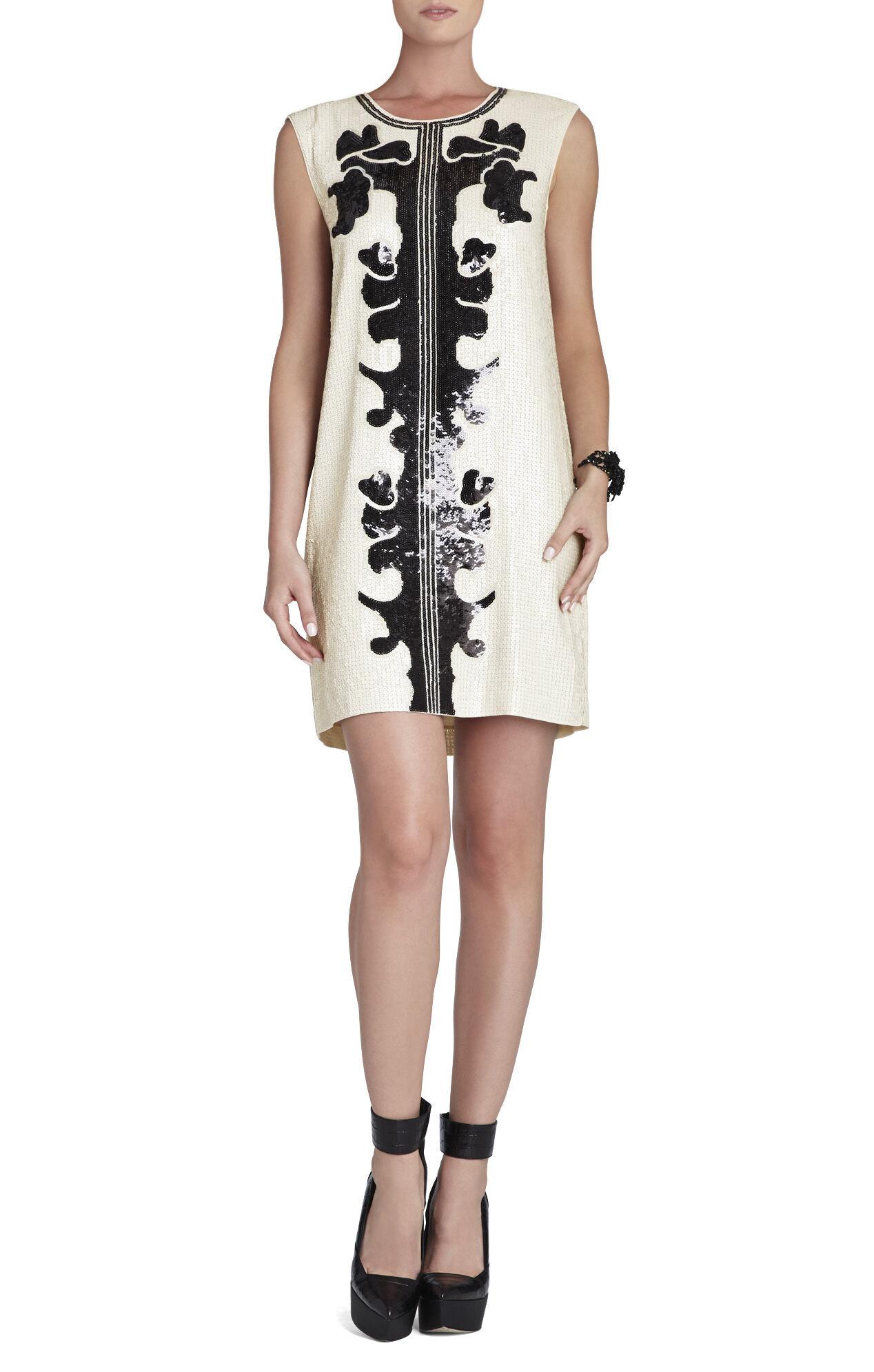 Geri Sequin Motif Shift Dress