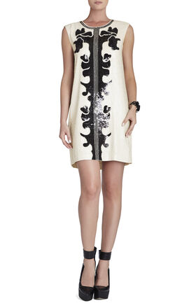 Geri Sequin Motif Shift Dress