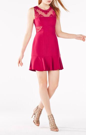 Enida Embroidered Flounce Dress