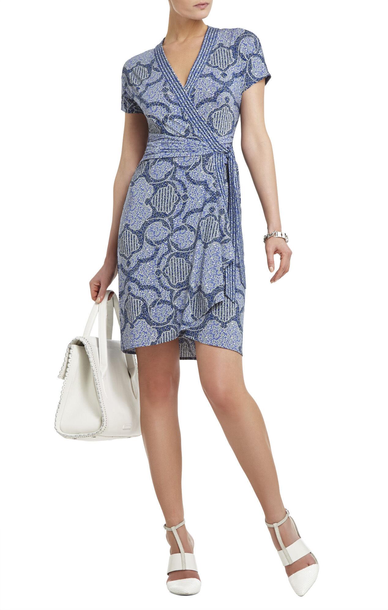 Averey Kimono-Sleeve Wrap Dress