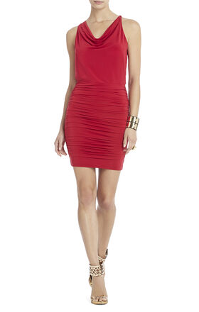 Jaide Cowl-Neck Halter Dress