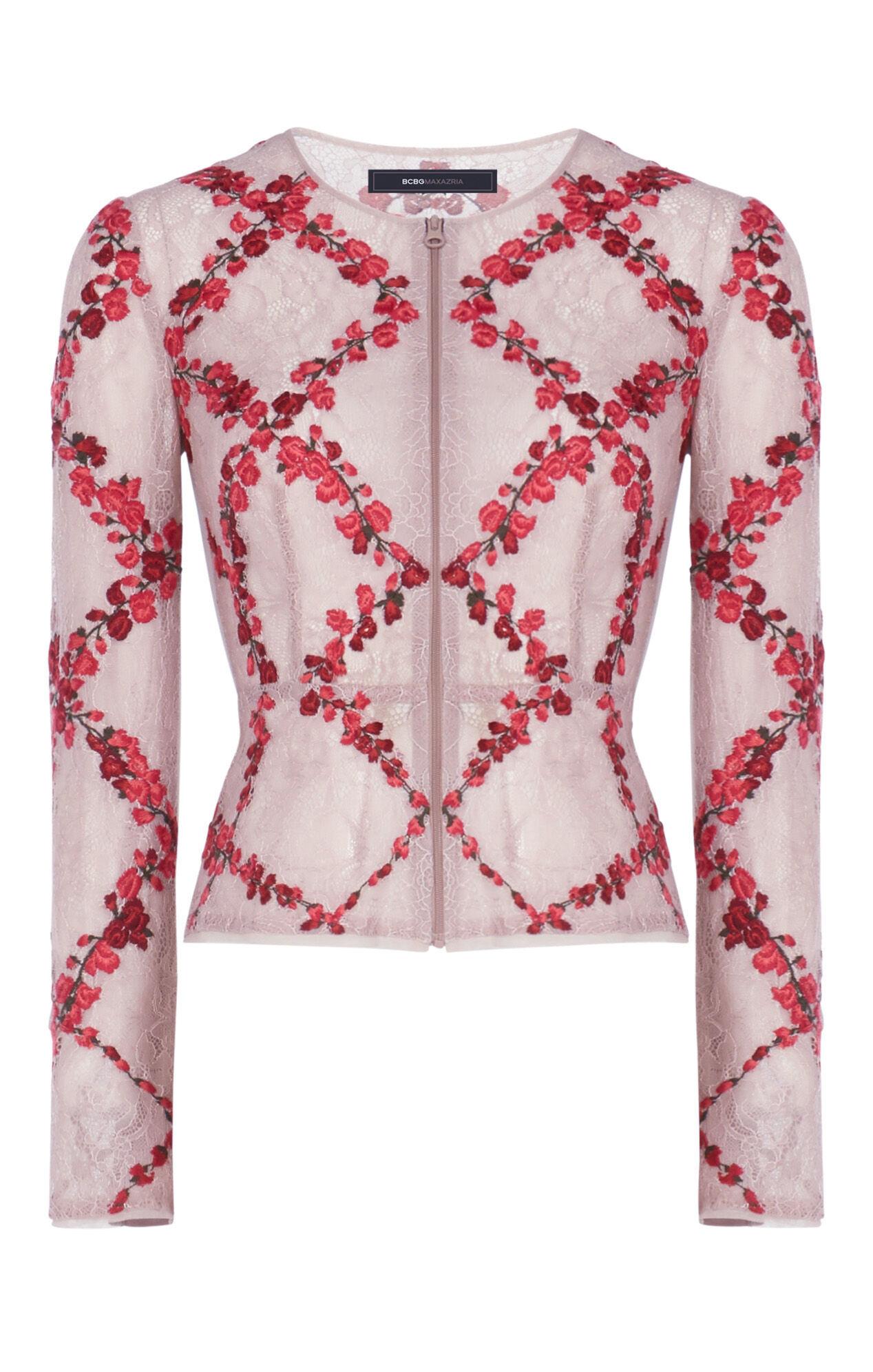 Corynne Floral Embroidered Jacket