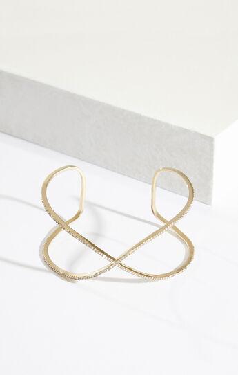 Pave Stone Infinity Cuff Bracelet