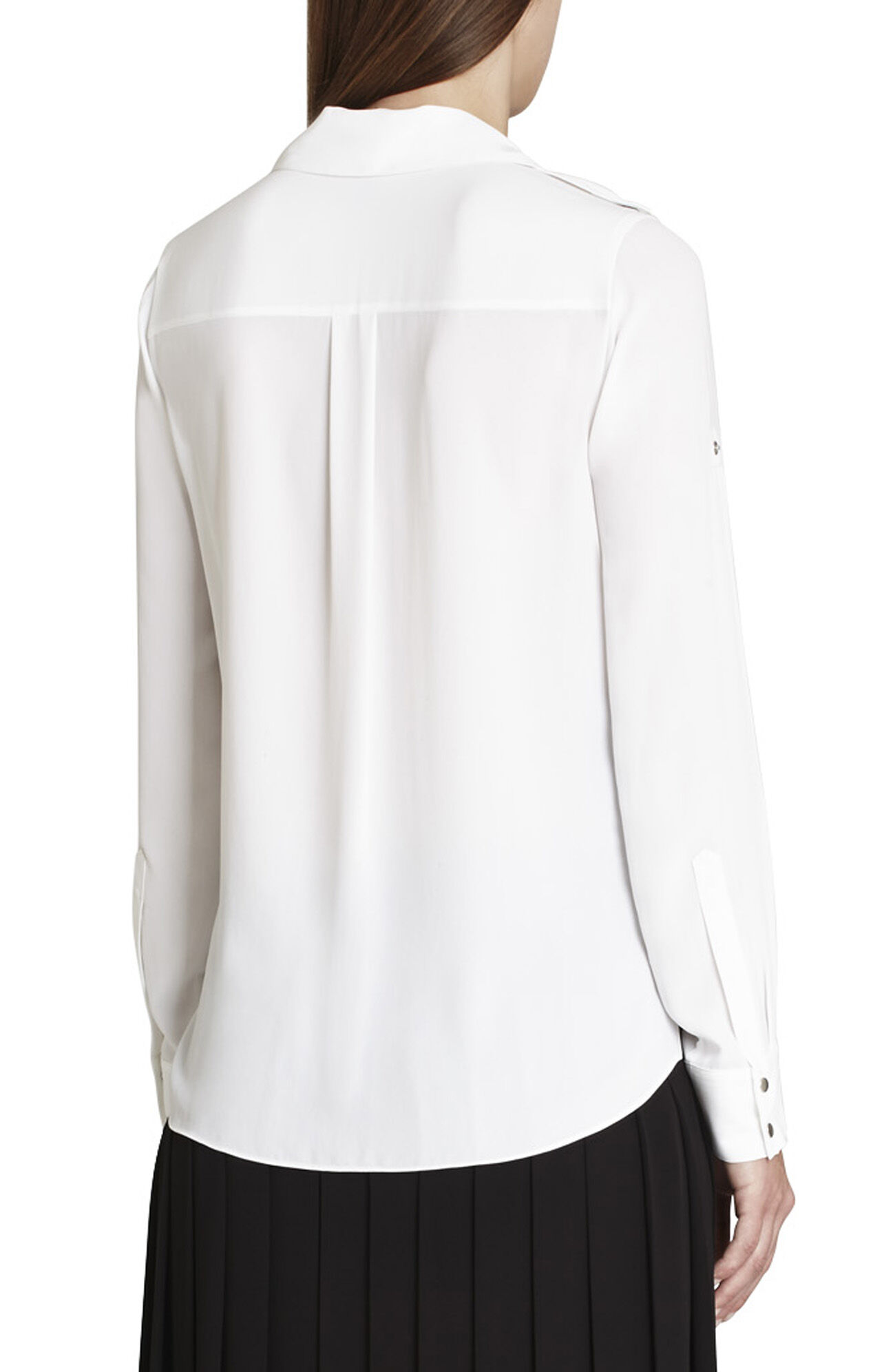 Sessilee Draped Long-Sleeve Shirt