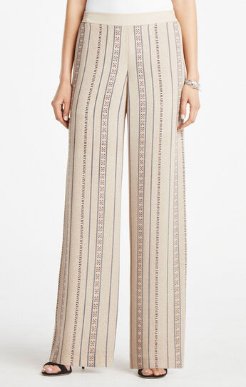 Joan Medallion Print Wide-Leg Pant