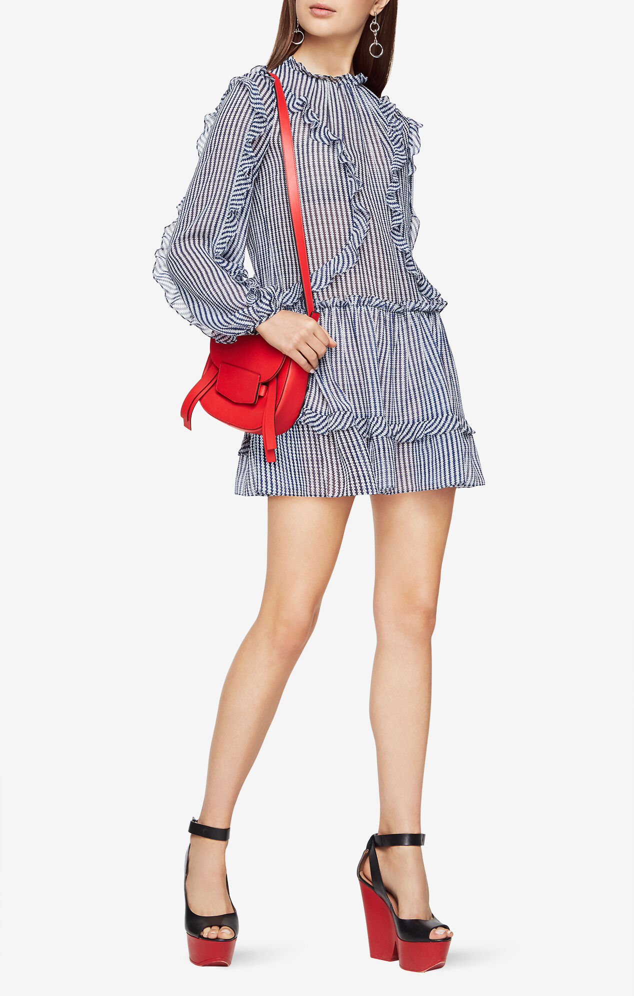 Rosemarie Ruffled Striped Dress