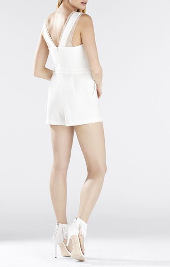 Linn Crossover Lace Romper
