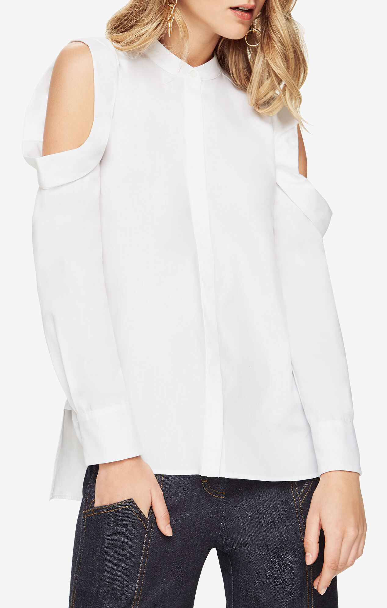 nishani cold shoulder shirt. Black Bedroom Furniture Sets. Home Design Ideas