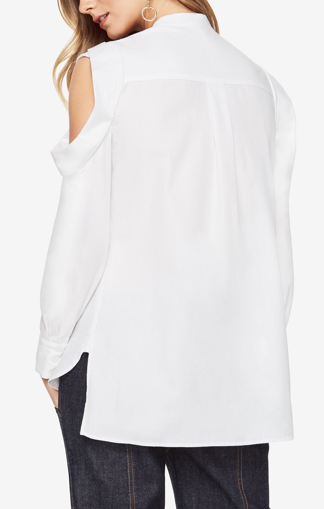 Nishani Cold-Shoulder Shirt