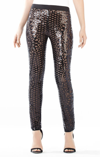 Dena Mosaic Tile Sequined Leggings
