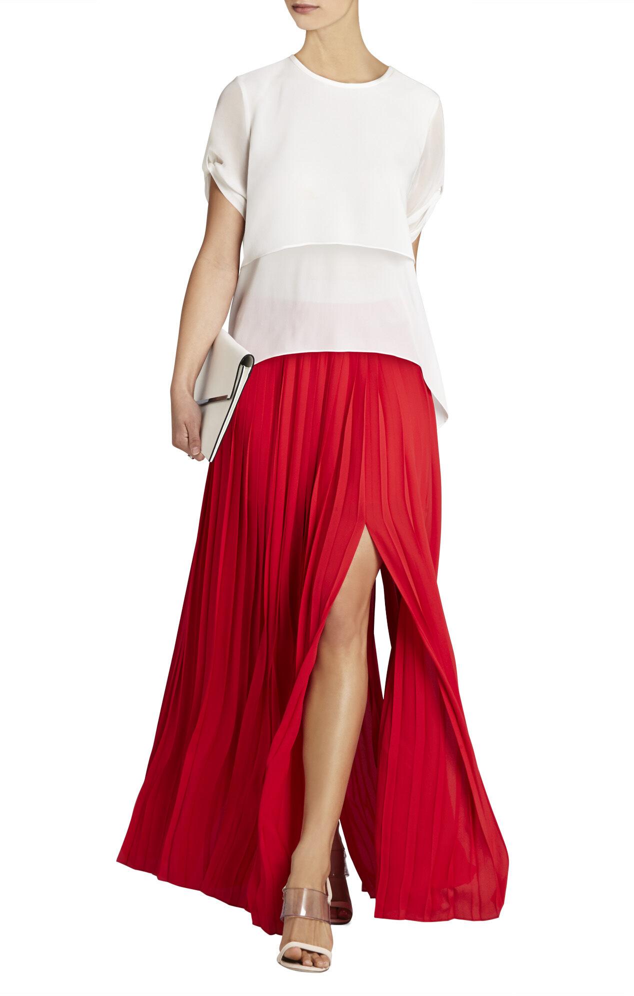 Dillon Pleated Paneled Maxi Skirt