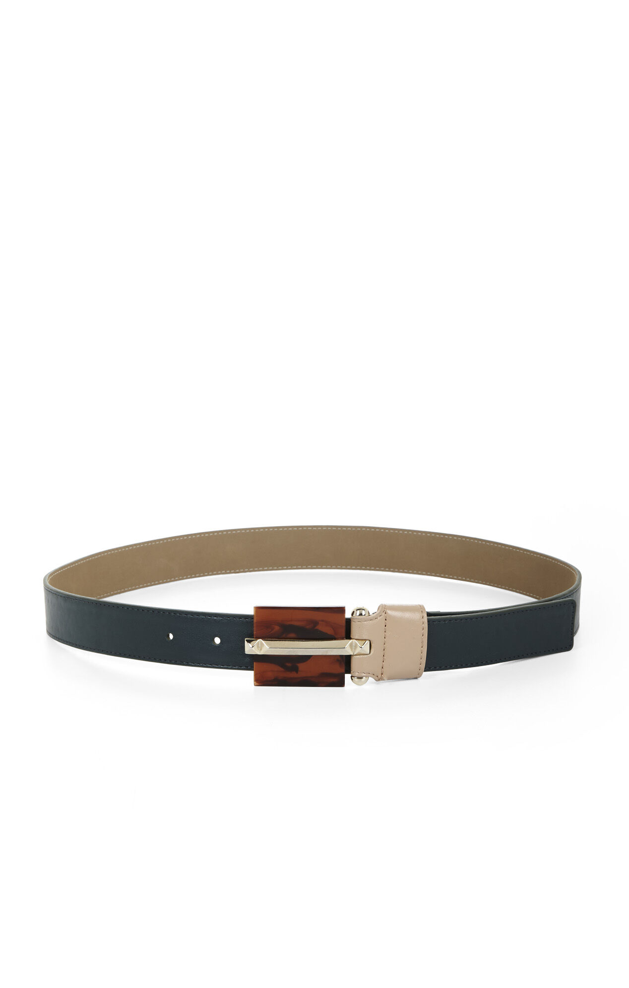 Tortoiseshell Buckled Waist Belt