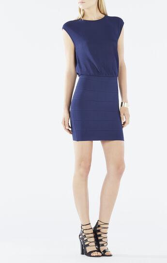 Thassia Draped Back Blouson Dress
