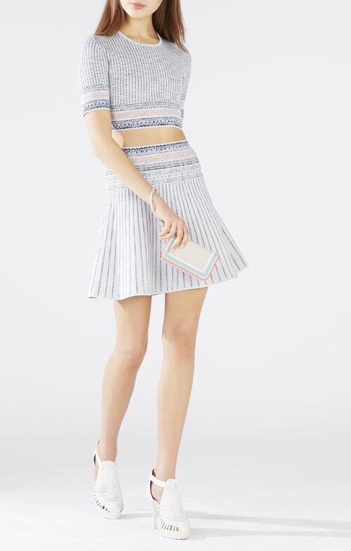 Kayla Textured Woodblock Jacquard Crop Top