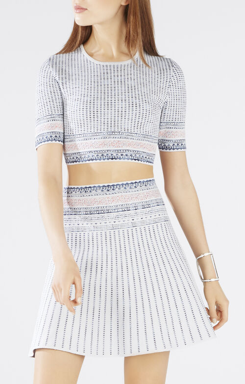 Kayla Textured Woodblock Jacquard Crop Top
