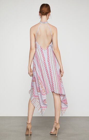 Danela Halter-Neck Geometric Print Dress