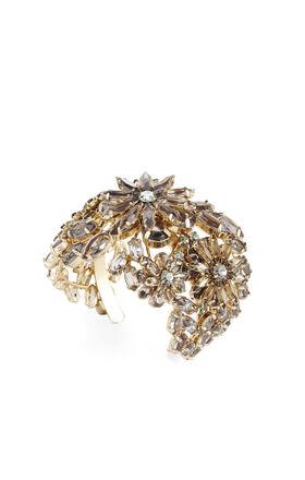 Floral Stone Cuff Bracelet