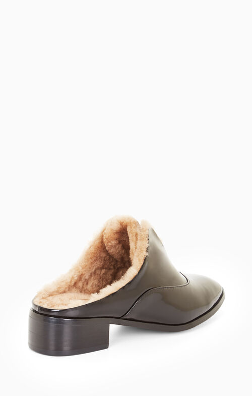 Lanza Fur Leather Slide