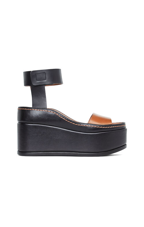 Ami Leather Wedge Sandal