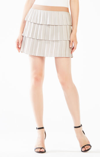 Zana Tiered Pleated Skirt